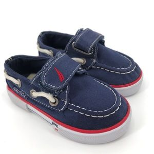 Nautica Navy Blue & White Boat Shoes Size 5